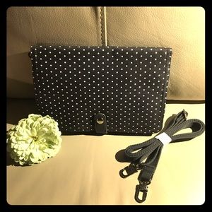 Charcoal Gray Polka Dot Crossbody